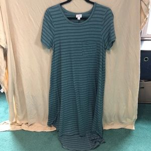 Lularoe Carly. Teal color.